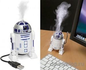 USB увлажнителя воздуха в виде дройда R2-D2