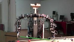 Робот, который способен обыграть человека на бильярде