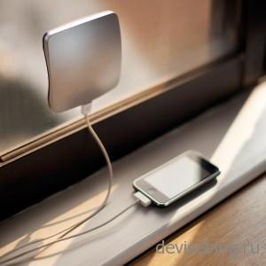 Solardefenster - зарядка с липучками