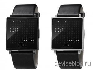 Часы Qlocktwo W показывают время словами