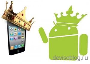 iOS опередила Android на американском рынке смартфонов