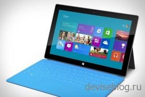 Маленькие продажи Microsoft Surface