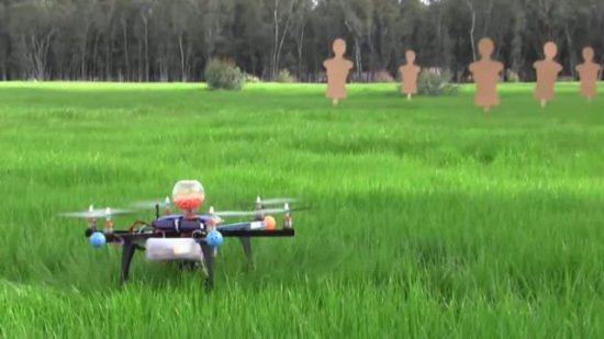High-Tech гаджет 2013. Летающий дрон с пейнтбольной пушкой