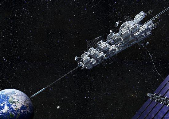 Канат длинной в 36000 км для доставки грузов на орбиту