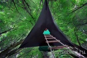 Stingray, уникальная подвесная палатка для туристов