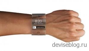 Изогнутые часы из стекла от Apple