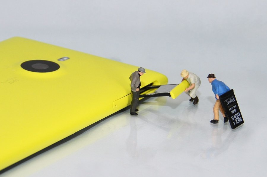 microSD карта в телефоне